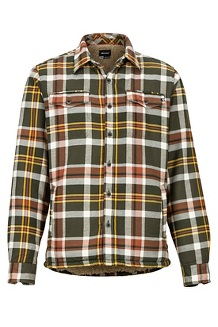 Men's Ridgefield Heavyweight Flannel Long-Sleeve Shirt, Crocodile, medium