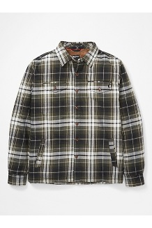 Men's Ridgefield Heavyweight Flannel Long-Sleeve Shirt, Nori, medium