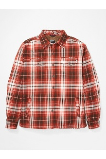 Men's Ridgefield Heavyweight Flannel Long-Sleeve Shirt, Picante, medium