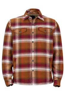 Ridgefield LS Flannel Shirt, Dark Rust, medium