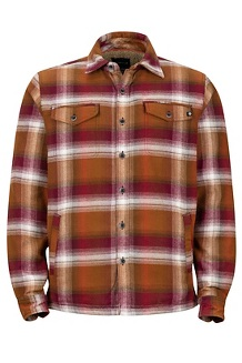 Men's Ridgefield Heavyweight Flannel Long-Sleeve Shirt, Dark Rust, medium