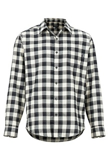 Bodega Lightweight Flannel LS Shirt, Black, medium