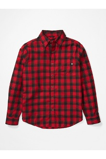 Men's Bodega Lightweight Flannel Long-Sleeve, Dark Fire, medium
