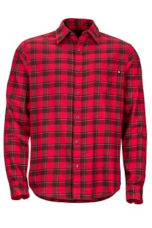 Bodega Lightweight Flannel LS Shirt, Fire, medium