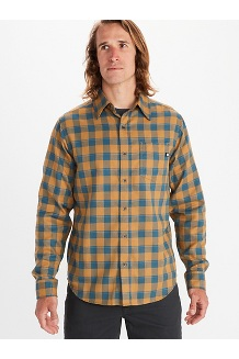 Men's Bodega Lightweight Flannel Long-Sleeve, Bronze, medium