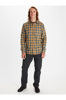 Men's Bodega Lightweight Flannel Long-Sleeve, Clear Blue, medium