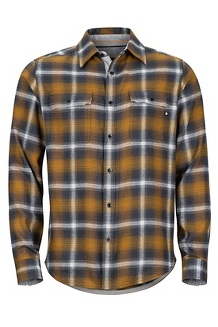 Jasper Midweight LS Flannel Shirt, Slate Grey, medium