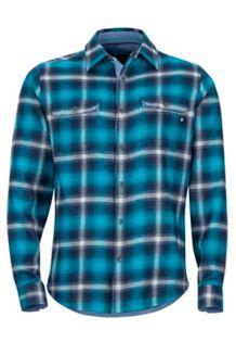 Jasper Midweight LS Flannel Shirt, Vintage Navy, medium
