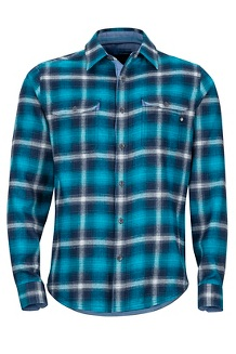 Jasper Midweight LS Flannel Shirt, Vintage Navy, medium