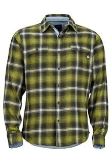 Jasper Midweight LS Flannel Shirt, Fatigue, medium