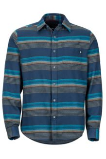Enfield Midweight Flannel LS Shirt, Dark Indigo, medium