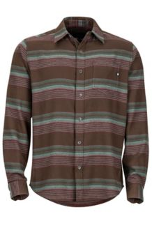 Enfield Midweight Flannel LS Shirt, Dark Brown, medium