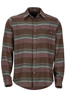 Enfield Midweight Flannel LS Shirt, Dark Brown, medium
