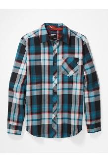 Men's Anderson Lightweight Flannel Long-Sleeve Shirt, Black, medium