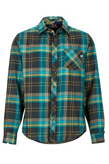 Men's Anderson Lightweight Flannel Long-Sleeve Shirt, Dark Coal, medium