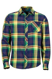 Anderson Lightweight Flannel LS Shirt, Dark Indigo, medium