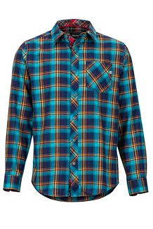 Men's Anderson Lightweight Flannel Long-Sleeve Shirt, Arctic Navy, medium