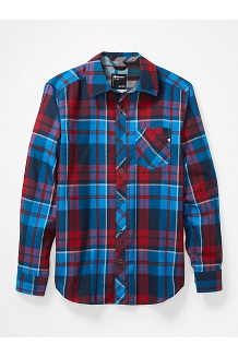 Men's Anderson Lightweight Flannel Long-Sleeve Shirt, Clear Blue, medium