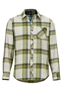 Men's Anderson Lightweight Flannel Long-Sleeve Shirt, Cilantro, medium
