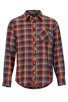 Men's Anderson Lightweight Flannel Long-Sleeve Shirt, Fig, medium