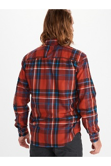 Men's Anderson Lightweight Flannel Long-Sleeve Shirt, Dark Brown, medium