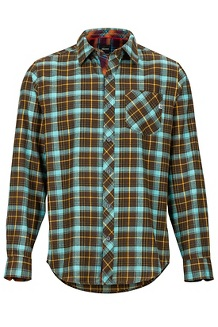Men's Anderson Lightweight Flannel Long-Sleeve Shirt, Brown, medium