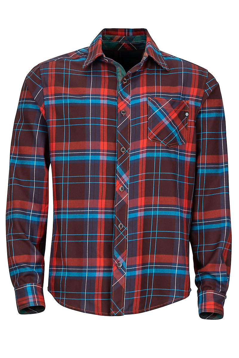 Anderson Lightweight Flannel LS Shirt, Red Ochre, large