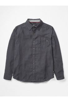Men's Hobson Midweight Flannel Long-Sleeve Shirt, Dark Steel Heather, medium