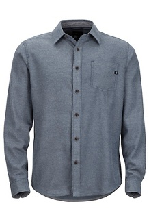 Men's Hobson Midweight Flannel Long-Sleeve Shirt, Dark Indigo Heather, medium