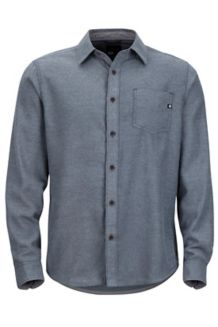 Hobson Midweight Flannel LS Shirt, Dark Indigo Heather, medium