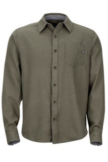 Hobson Midweight Flannel LS Shirt, Forest Night Heather, medium