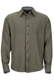 Men's Hobson Midweight Flannel Long-Sleeve Shirt, Forest Night Heather, medium