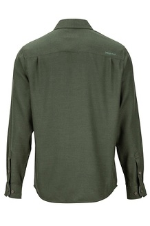Men's Hobson Midweight Flannel Long-Sleeve Shirt, Rosin Green Heather, medium
