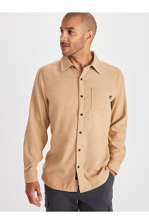Men's Hobson Midweight Flannel Long-Sleeve Shirt, Scotch Heather, medium
