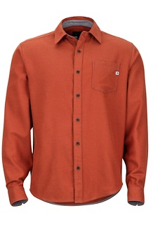 Hobson Midweight Flannel LS Shirt, Auburn Heather, medium