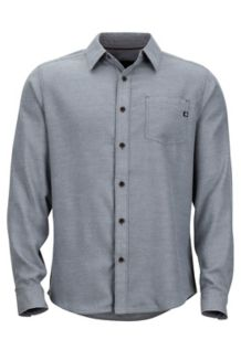 Hobson Midweight Flannel LS Shirt, Steel Onyx Heather, medium