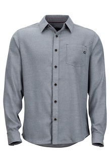 Men's Hobson Midweight Flannel Long-Sleeve Shirt, Steel Onyx Heather, medium