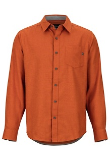 Men's Hobson Midweight Flannel Long-Sleeve Shirt, Hawaiian Sunset Heather, medium