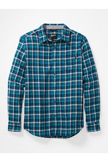 Men's Fairfax Midweight Flannel Long-Sleeve Shirt, Navy, medium