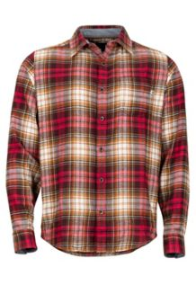 Fairfax Midweight Flannel LS Shirt, Brick, medium