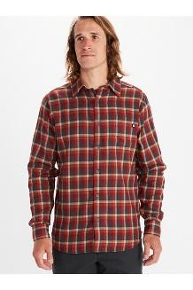Men's Fairfax Midweight Flannel Long-Sleeve Shirt, Dark Steel, medium