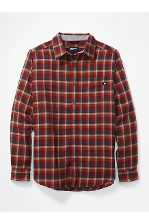 Men's Fairfax Midweight Flannel Long-Sleeve Shirt, Dark Steel, medium