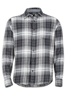 Men's Fairfax Midweight Flannel Long-Sleeve Shirt, Slate Grey, medium