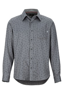 Men's Fairfax Midweight Flannel Long-Sleeve Shirt, Cinder Marmot Jacquard, medium