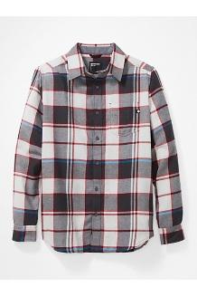 Men's Fairfax Midweight Flannel Long-Sleeve Shirt, Platinum, medium