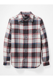 Men's Fairfax Midweight Flannel Long-Sleeve Shirt, Platinum, medium
