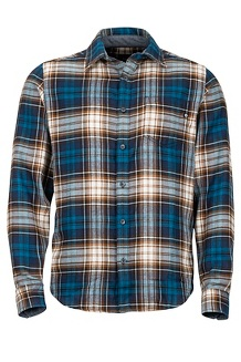 Men's Fairfax Midweight Flannel Long-Sleeve Shirt, Vintage Navy, medium