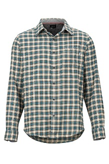 Men's Fairfax Midweight Flannel Long-Sleeve Shirt, Moonstruck, medium