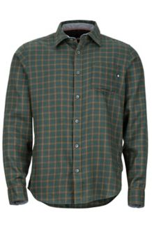 Fairfax Midweight Flannel LS Shirt, Dark Spruce, medium