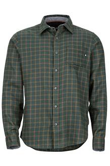 Fairfax Midweight Flannel LS Shirt, Dark Spruce, medium